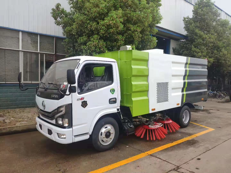 程力国六东风最新5方扫路车(带洒水功能)